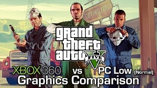 getlinkyoutube.com-GTA V - Xbox 360 vs PC (Low) - Graphics Comparison (60 FPS)