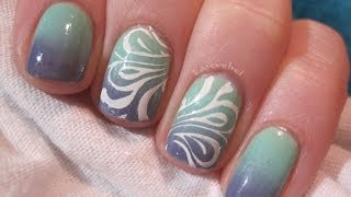 Pastel mint & violet - ombre nails - marble nails - Basevehei