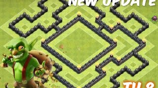 getlinkyoutube.com-clash of clans: NEW UPDATE ¡Best Townhall 8 (TH8) Farming BASE!