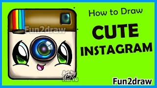 How to Draw Cute Instagram Logo Step by Step - Easy Drawings Fun2draw
