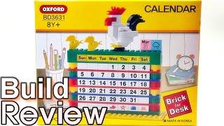 [생방송 조립 리뷰] 옥스포드 캘린더 달력 레고 호환 블럭 달력 Oxford Calendar Brick for Desk BD3631