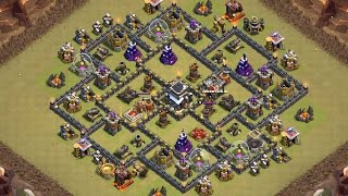 getlinkyoutube.com-Clear Town Hall 9 Top Internet Base (GamediceHD Base) | Clash Of Clans
