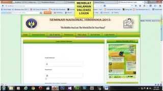 getlinkyoutube.com-Cara Membuat Halaman Website Register, Login dan Logout ( Dreamwever)