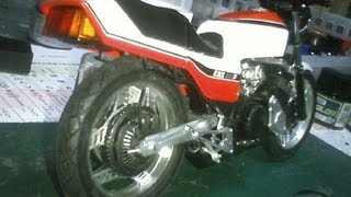 getlinkyoutube.com-HONDA CBX400FⅡアオシマ製プラモデル改造前期型仕様(後編)