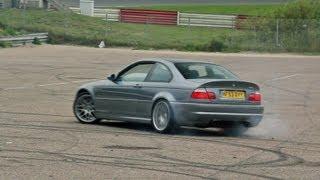 getlinkyoutube.com-4x BMW E46 M3 CSL - BURNOUT Sounds!!