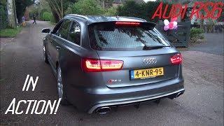 getlinkyoutube.com-(HD) Audi RS6 Avant C7 in Action! BRUTAL Accelerations, Revs, Start-Up etc.