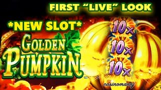 "getlinkyoutube.com-*NEW* GOLDEN PUMPKIN SLOT - First ""LIVE"" Look - Slot Machine Bonus"
