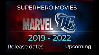 Upcoming SUPERHERO MOVIES DC and Marvel 2018 to 2020 with Release Dates | REALFAV
