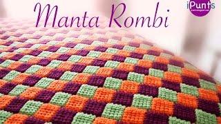 Tutorial Manta Rombi. Entrelac a crochet o ganchillo