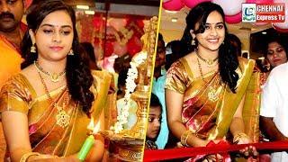 WOww : Gorgeous Cute Sri Divya | Exclusive : Grand Shop Opening | Chennai Express Tv