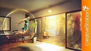 getlinkyoutube.com-Dream Paradise  - Speed art (#Photoshop) | CreativeStation