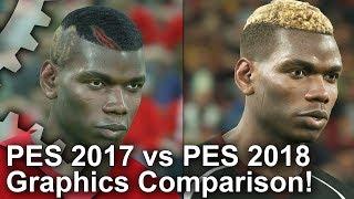 PES 2018 vs PES 2017 Grafikai Összehasonlítás