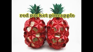getlinkyoutube.com-Red Packet Craft - Pineapple Lantern
