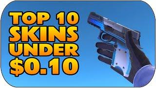 CS:GO - Top 10 Skins Under $0.10 (Best Cheap Skins Under 10 Cents)