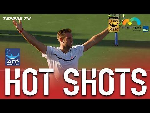 Hot Shot: Sock Deflects Smash With Laser Reactions At Miami 2017