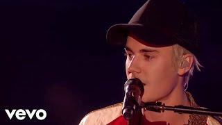 getlinkyoutube.com-Justin Bieber - Love Yourself & Sorry - Live at The BRIT Awards 2016 ft. James Bay