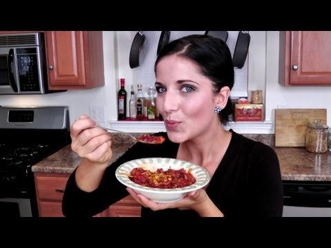 Homemade Chili Recipe - Laura Vitale - Laura in the Kitchen Episode 217