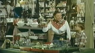 getlinkyoutube.com-American Flyer train in 1950's western movie
