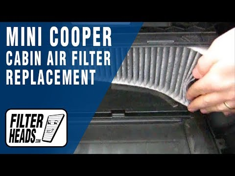 How to Replace Cabin Air Filter Mini Cooper