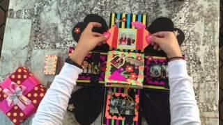 getlinkyoutube.com-Explosion box / DIY / Handmake / กล่องของขวัญให้แฟน / Exploding box / Anniversary