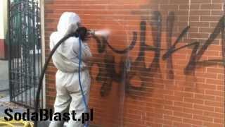 """getlinkyoutube.com-Czyszczenie, usuwanie graffiti """"Klub 56"""" Skwierzyna Sodowanie SodaBlast.pl"""
