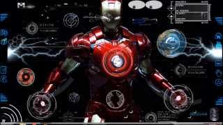 getlinkyoutube.com-rainmeter skin Iron man 2013