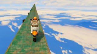 getlinkyoutube.com-Crazy Sky Bike Race (GTA 5 Funny Moments)