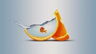 getlinkyoutube.com-دمج احترافي بالفون في برنامج PS touch ماء و سمكه في قطعه برتقال