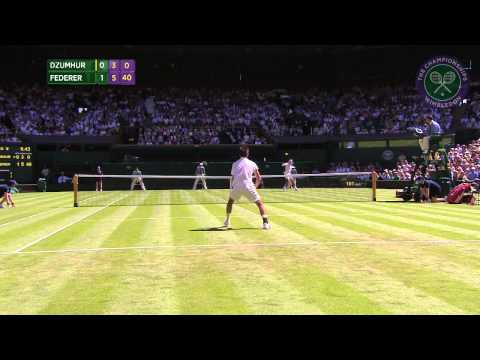 2015 Day 2 Highlights, Roger Federer vs  Damir Dzumhur