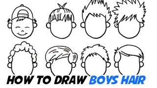 getlinkyoutube.com-How to Draw Boys Hair In Different Cartoon Styles