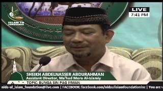 Bunga sin Pag-iyman (Part 1) lecture by Sheikh Abdelnasser Abdurahman (Tausug)