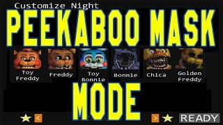 getlinkyoutube.com-5 Nights at Freddy's 2 - PEEKABOO MASK MODE