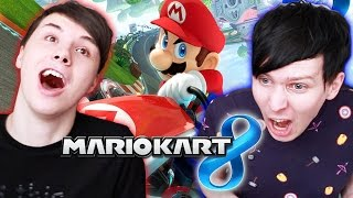 getlinkyoutube.com-Dan vs. Phil - Mario Kart 8