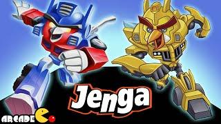 getlinkyoutube.com-Angry Birds Transformers: Unlocked Jenga Mode All Angry Birds Max Level Gameplay Part 58