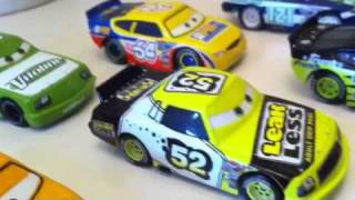 getlinkyoutube.com-Disney cars speedway of the south race cars collection