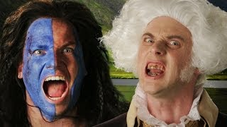getlinkyoutube.com-George Washington vs William Wallace.  Epic Rap Battles of History Season 3.