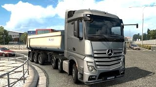 getlinkyoutube.com-Euro Truck Simulator 2 1.18 Open Beta - Mercedes-Benz New Actros 6x2/4 Truck