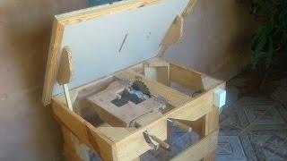 getlinkyoutube.com-Serra circular de bancada artesanal ( Homemade table saw )