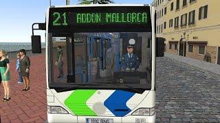 getlinkyoutube.com-OMSI 2 - Mallorca Line 21 Palma Airport to S'Arenal Gameplay 4K