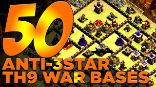 getlinkyoutube.com-50 X ANTI-3 STAR TH9 War Bases For Your Clan Wars!! | Clash of Clans