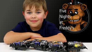 getlinkyoutube.com-FIVE NIGHTS AT FREDDY'S SURPRISE BLIND BAGS | FNAF TOY HANGERS | RADIOJH AUTO
