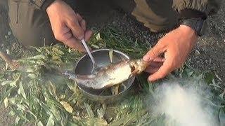 getlinkyoutube.com-Как закоптить рыбу без коптилки