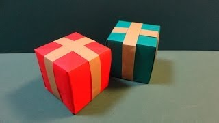 "getlinkyoutube.com-クリスマス「プレゼントボックス」折り紙Christmas ""present box"" origami"