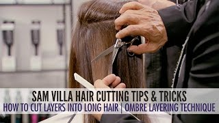 getlinkyoutube.com-How To Cut Layers in Long Hair - The Ombre Layering Technique