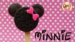 getlinkyoutube.com-MINNIE MOUSE oreo pops - Cute disney mickey or minnie cookie pops how to baking