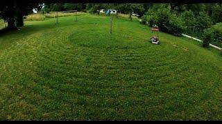 getlinkyoutube.com-Lawn Mower on Rope / Lawn Mowing Hack