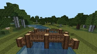 getlinkyoutube.com-MINECRAFT Tutorial   Wooden Bridge