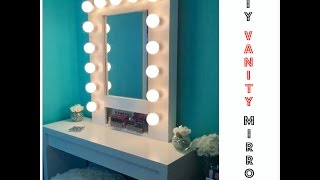 getlinkyoutube.com-HOW TO: Build your own Hollywood Vanity Mirror W/Lights EASY AND AFFORDABLE