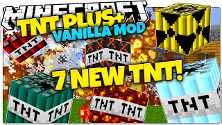 getlinkyoutube.com-Minecraft | TNT+ Mod | Nukes, Age Bombs, Frozen TNT | Only One Command (Minecraft Vanilla Mods)