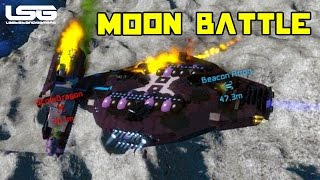 Space Engineers - Mega Ship Moon Battle